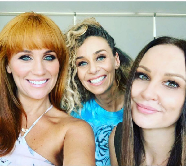 Jules with two of her bridesmaid's and *MAFS* co-stars, Heidi Latcham and Mel Lucarelli. *(Source: Instagram / @julesrobinson82)*