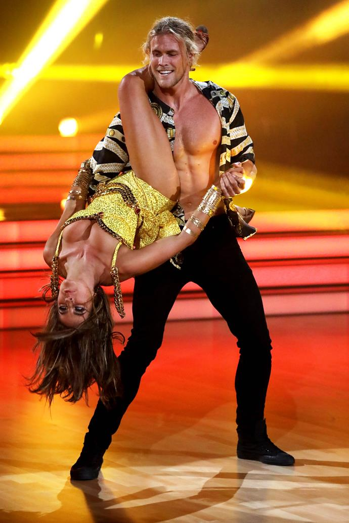 Jett Kenny and his dancer partner Lily Cornish were the subject of romance rumours (Image: Network 10).