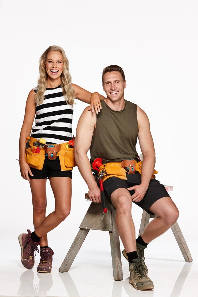 """**KATIE & ALEX, MARRIED, NSW** <br><br> While an eco-lifestyle is important to stay-at-home mum Katie, 29, and police officer Alex, 32, a working kitchen and a master bedroom that doesn't leak is equally as essential. It's also something they've both been without recently.   <br><br> """"When it gets cold outside, the condensation comes through the ceiling and literally drips cold water on your face at about 3 or 4am,"""" Katie says. <br><br> Alex says he's a force to be reckoned with – """"I'll work until I drop, breaking myself in the process or die trying"""" he says – but he'll face an extra challenge: he's colour-blind."""