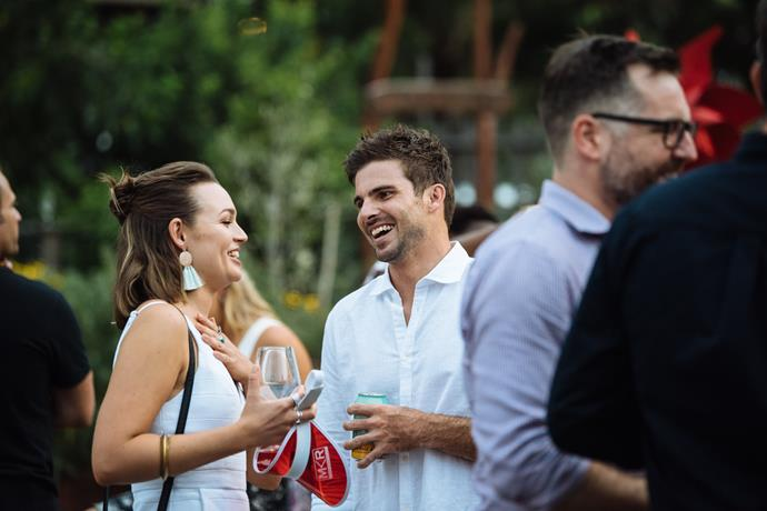 Matt and Courtney met at the *MKR* launch earlier this year (Image: Supplied).