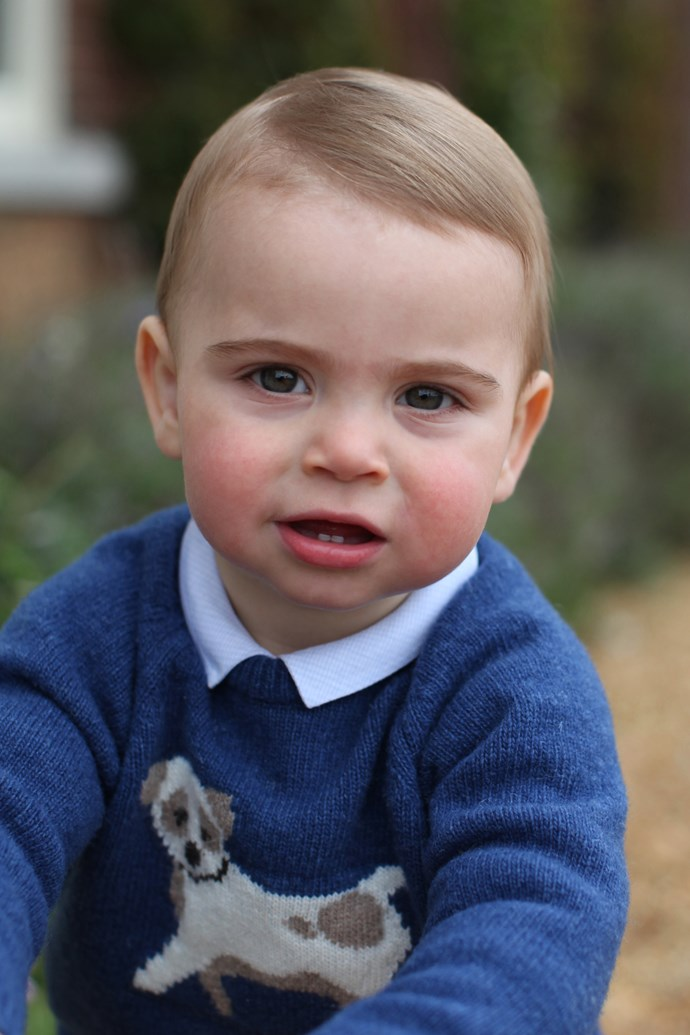 Prince Louis' first birthday has been marked with the release of three gorgeous new photographs. *(Image: AAP / credit: The Duchess of Cambridge)*