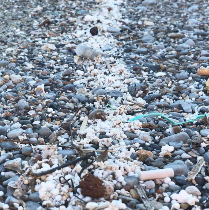 Plastic waste on a beach.  *(Source: Instagram/@sussexroyal The Duke of Sussex©️DOS)*