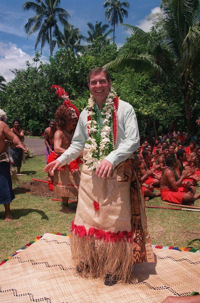 One of Tim's favourite moments was when Prince Andrew did an impromptu hula dance! *(Image: Tim Rooke/Shutterstock)*