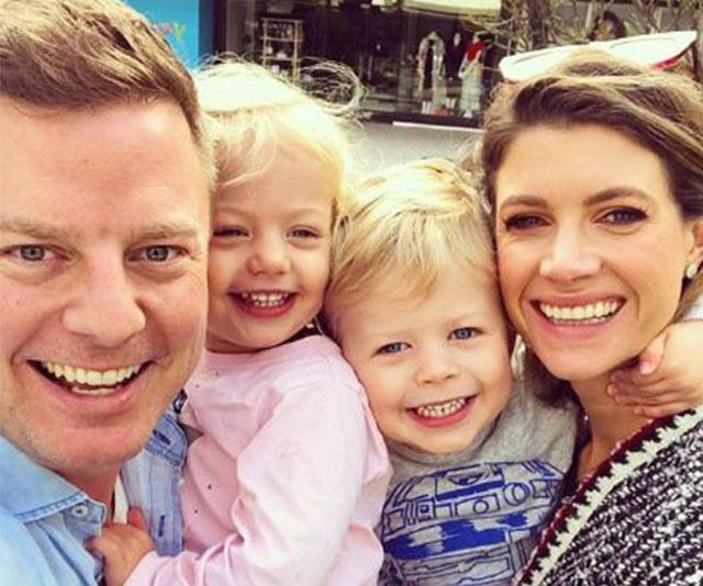 Ben with his gorgeous family, daughter Pearl, son Freddy and wife Jodie. *(Image: @benfordham9/Instagram)*
