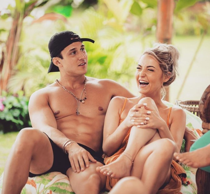 Shannon Baff and Connor J. Obrochta seem pretty happy in one another's company. *(Source: Network Ten)*