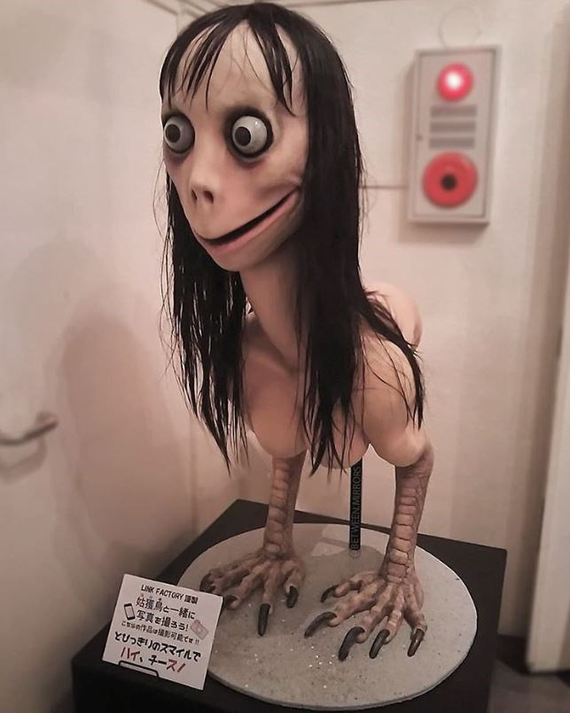 Momo is a bird-like creature sculpture but is often only depicted from the neck up.