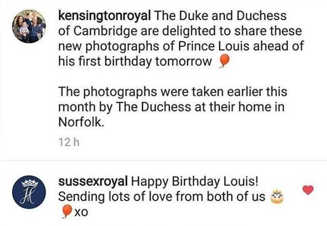 """The fact Meghan signed off """"from the both of us"""" indicates that there's still no royal baby just yet. *(Image: @kensingtonroyal/Instagram)*"""