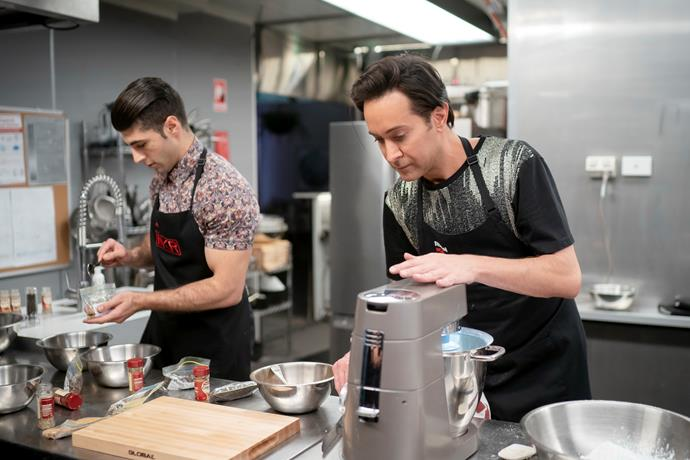 Ibby and Romel jumped ahead of Pat and Bianca with their delicious menu (Image: Channel Seven).