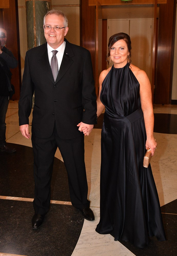 Scott and Jenny at the 2018 Midwinter Ball in Canberra. *(Image: Getty)*