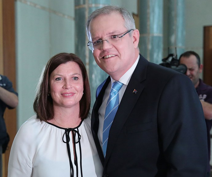 Jenny and Scott at Parliament House in Canberra. *(Image: Getty)*