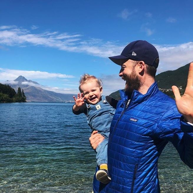 Hamish and his daughter Rudy on a family getaway in New Zealand (Image: Instagram @zotheysay).