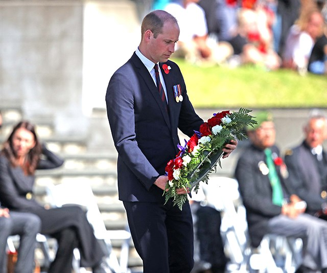 Prince William attended a poignant Anzac Day service in Auckland, New Zealand. *(Image: Getty)*