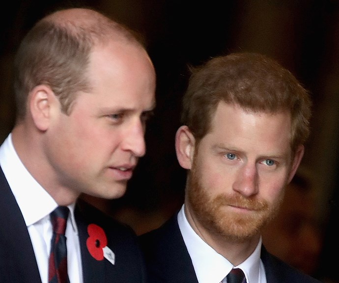 It's an open secret that things are tense between Harry and William at the moment. *(Image: Getty)*