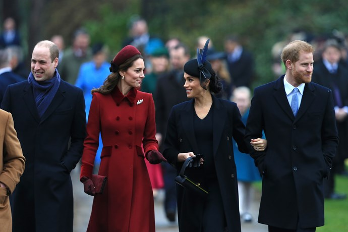 The Fab Four attending Christmas celebrations at Sandringham in 2018. *(Image: Getty)*