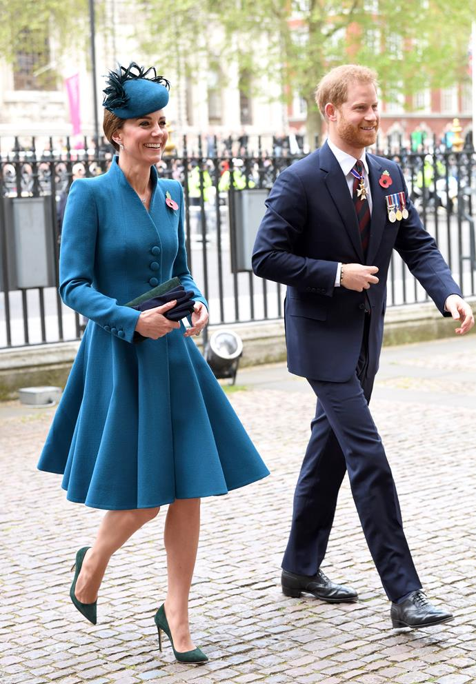 Prince Harry attended an Anzac Day Service on Thursday April 25 with Kate Middleton. *(Image: Getty)*
