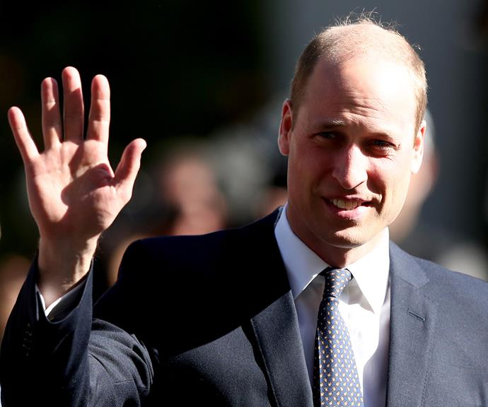 Prince William waves to fans in Christchurch. *(Image: Getty)*
