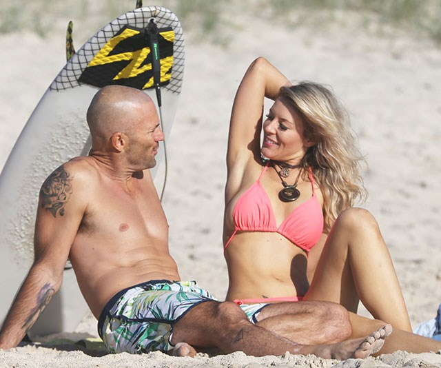 Jess caught Mike's attention in a pink string bikini. *(Image: Exclusive/Instar)*