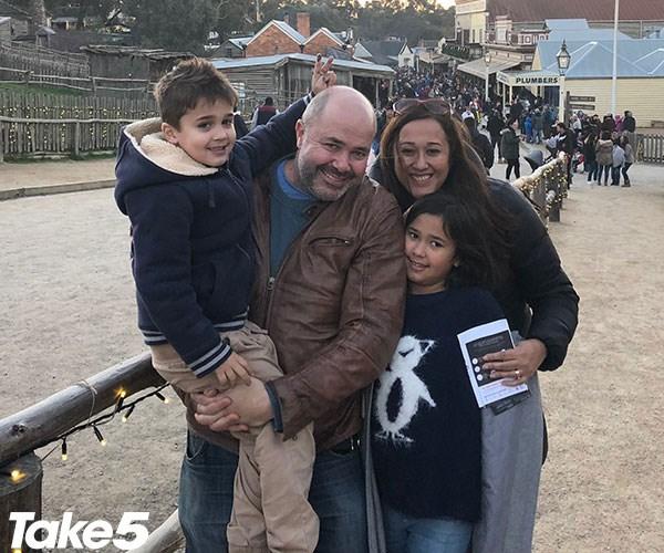 Me with my beautiful family - Judd, Omar and Freya.
