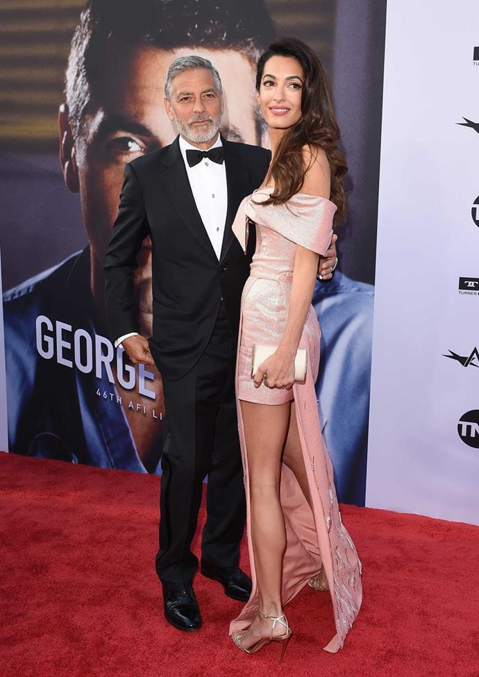 George and Amal Clooney are also vying to be Godparents to Baby Sussex! *(Source: Getty Images)*