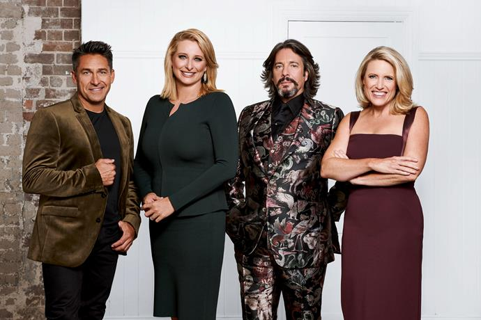 The House Rules judges with host Johanna Griggs (Image: Channel Seven).