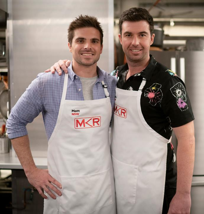 Matt and Luke wowed the judges with their five-course menu (Image: Channel Seven).
