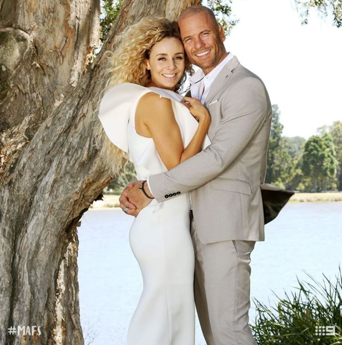Heidi and Mike Gunner on the set of *Married at First Sight*. *(Source: Channel 9)*