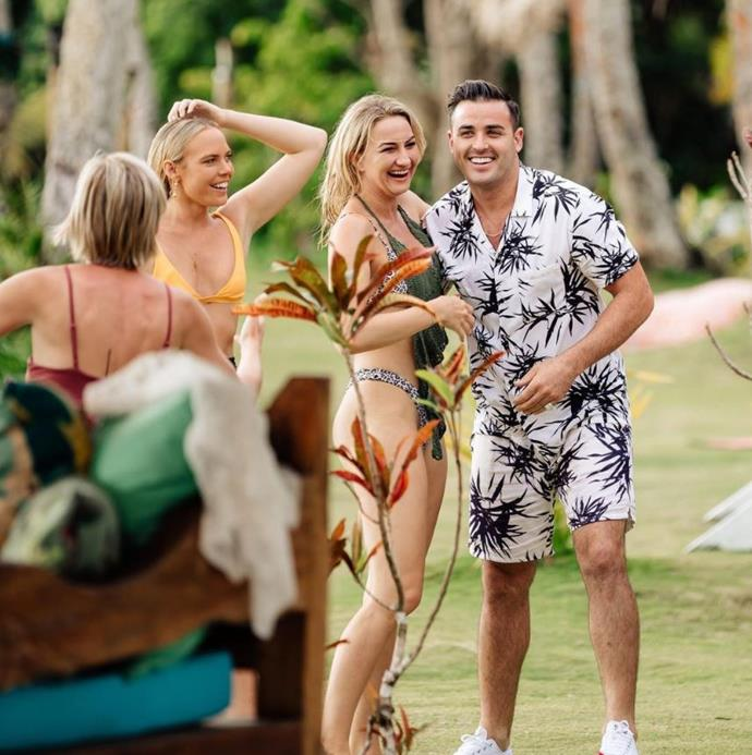 Davey has slotted back in to Paradise life like he never left. *(Source: Network Ten)*