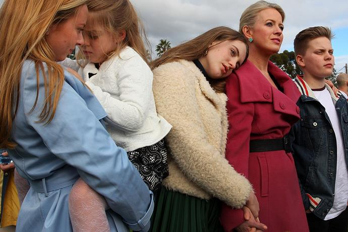 Chloe Shorten with her neice Alexandra, daughter Clementine, daughter Georgette and son Rupert pictured in 2016. *(Image: Getty)*