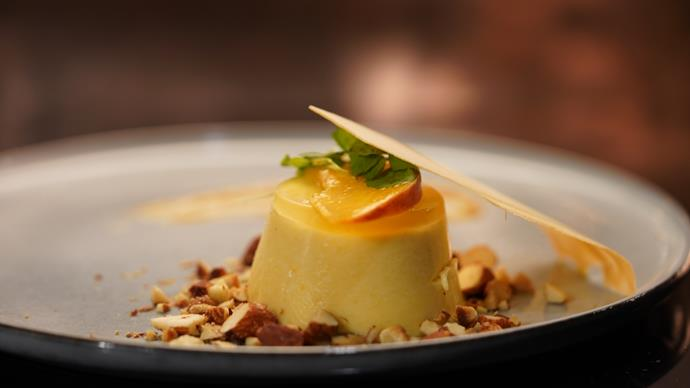 Matt and Luke's Peach Bellini dessert received high praise (Image: Channel Seven).