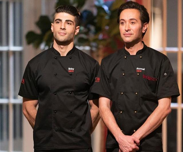 Ibby and Romel competed in the first all-male *MKR* grand final cook-off. *(Image: Channel Seven)*