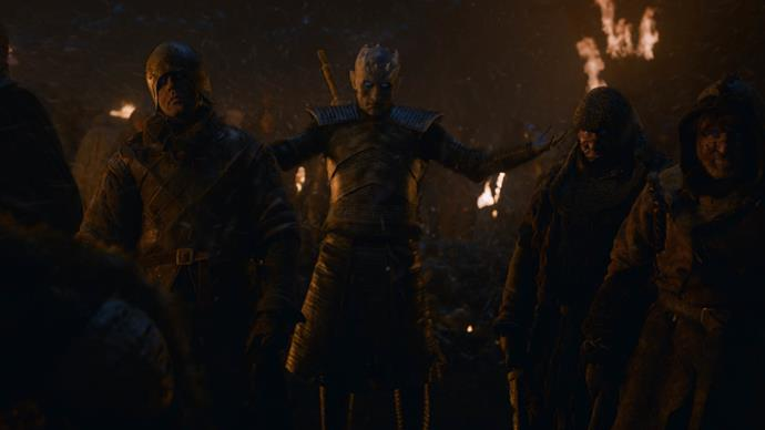 The Night King descended upon Winterfell (Image: Helen Sloan/HBO)