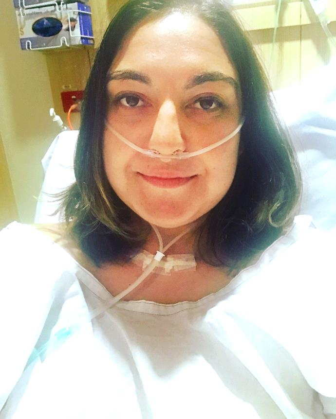 Jess had surgery to remove a 15cm-long tumour (Image: Supplied).