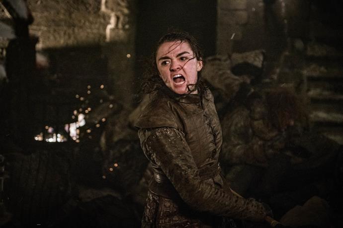 Arya slays the Night King (Image: Helen Sloan/HBO)