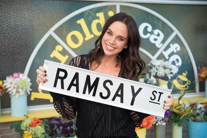"Bonnie says she's ""so lucky"" to be on *Neighbours* (Image: Network 10)."