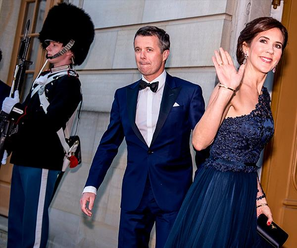 The couple posed for photographs before entering Amalienborg Palace. *(Image: Getty Images)*