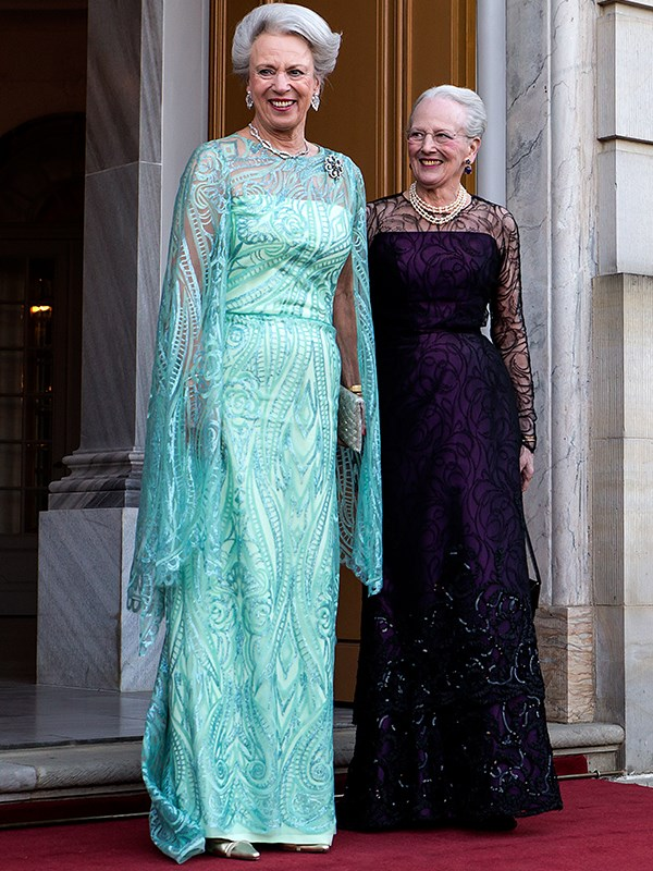 Birthday girl Princess Benedikte posed for photos with her sister Queen Margrethe. *(Image: Getty Images)*