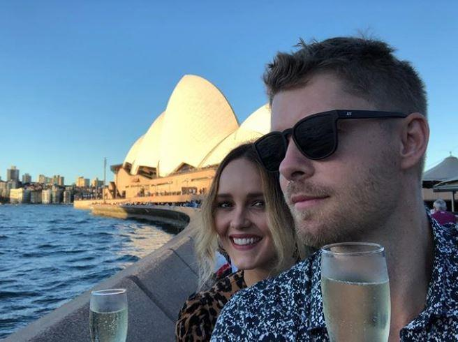 Luke and Rebecca recently celebrated his birthday in Sydney (Image: *Instagram/@lukemitchell17*)