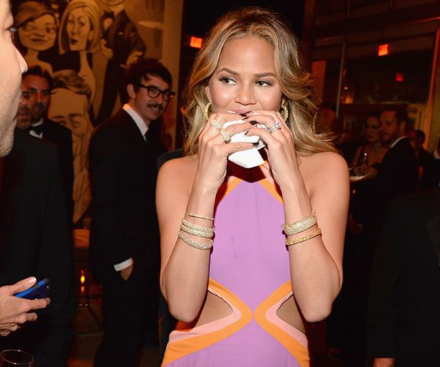 Take a leaf out of Chrissy Teigen's book and enjoy your favourite treats in moderation. *(Image: Getty Images)*
