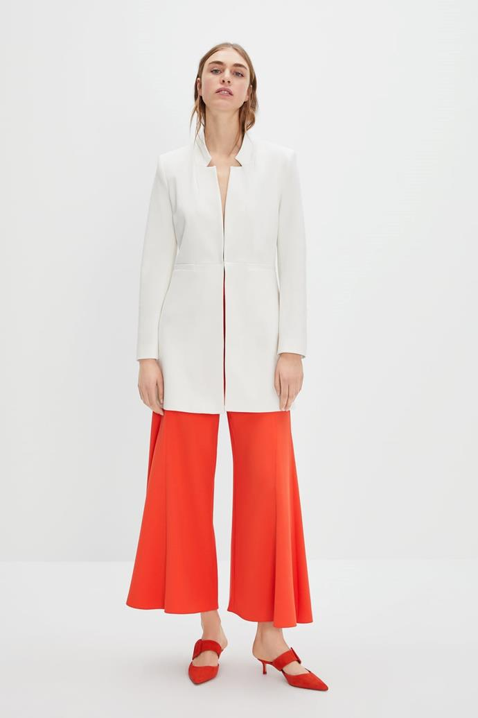 "Notice anything interesting about this [Zara](https://www.zara.com/au/en/inverted-lapel-frock-coat-p07186293.html?v1=8234014&v2=1010155|target=""_blank"") concoction? *(Image: Zara)*"