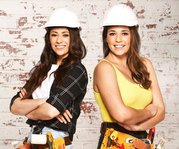 Mikaela and Eliza are trying their hand at renovation on *House Rules* (Image: Channel Seven).