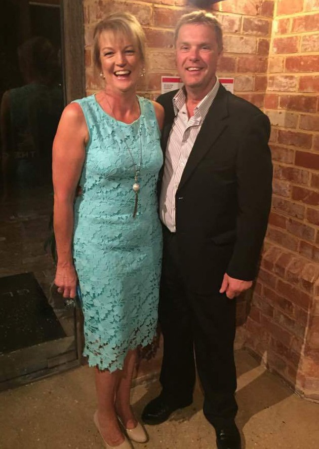 Lynne and her husband after her 30kg weight loss. *(Image: Supplied)*