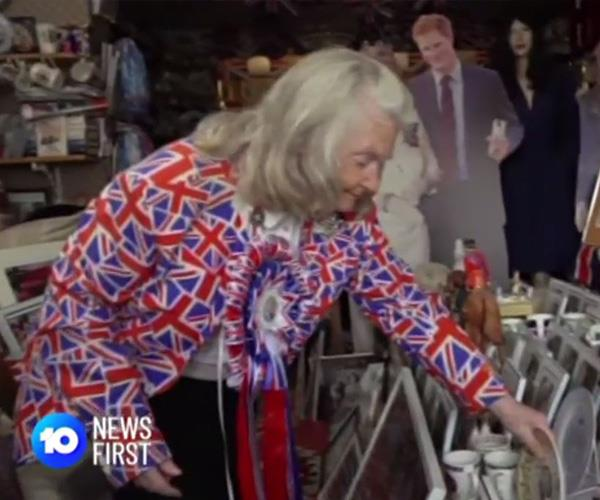 """""""I'm so excited for Baby Sussex, I can't wait, I just wish it would hurry up."""" Us too Margaret. Also, where can we get one of those suits? *(Image: Network Ten)*"""