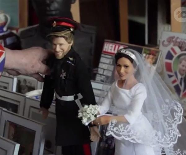 Complete with Harry and Meghan wedding day dolls no less. *(Image: Network Ten)*