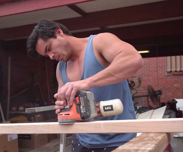 While the contestants are hard at work, they have a helping hand. *(Image: Channel Seven)*