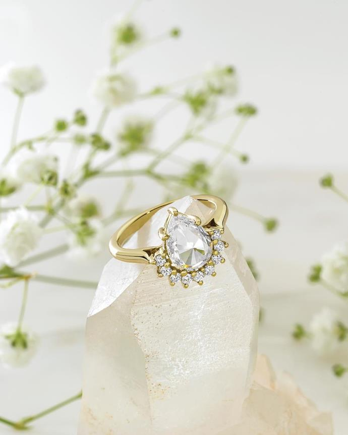 The gorgeous ethically-sourced diamond. *(Image: @larsenjewellery/Instagram)*