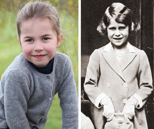 Two regal ladies in the making. *(Images: The Duchess of Cambridge, Getty)*