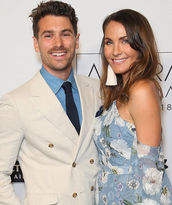 Matty J and Laura Byrne are set to become first-time parents in just five weeks' time. *(Image: Getty)*