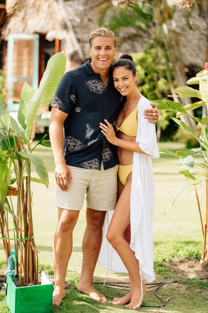 Nathan and Tenille in happier times (Image: Network 10).