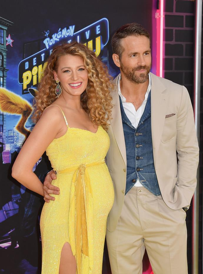 Baby joy! Hollywood couple Blake Lively and Ryan Reynolds are expecting their third child together. *(Image: Getty)*