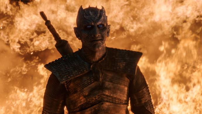 The Night King and Bran had an epic stare-down in episode three (Image: Helen Sloan/HBO).